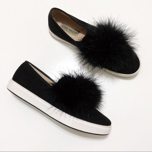 91c50c5308d Steve Madden Emily Faux Fur Slip-On Sneakers